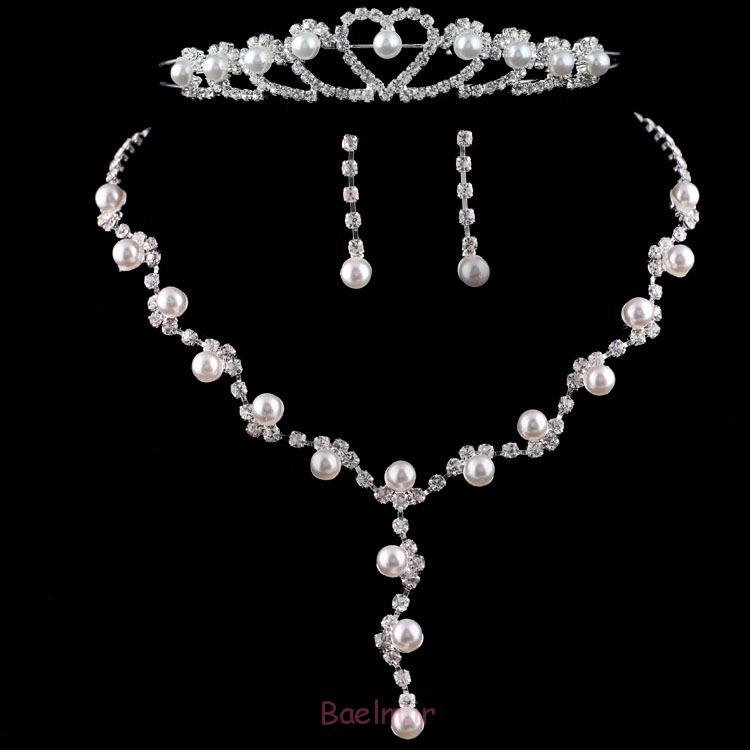 شگفت انگیز مروارید مجموعه جواهرات عروسی (10)