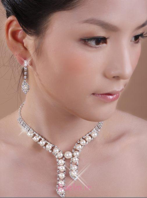شگفت انگیز مروارید مجموعه جواهرات عروسی (13)