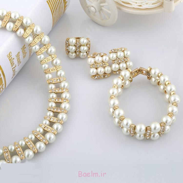 شگفت انگیز مروارید مجموعه جواهرات عروسی (2)