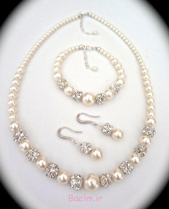 شگفت انگیز مروارید مجموعه جواهرات عروسی (4)