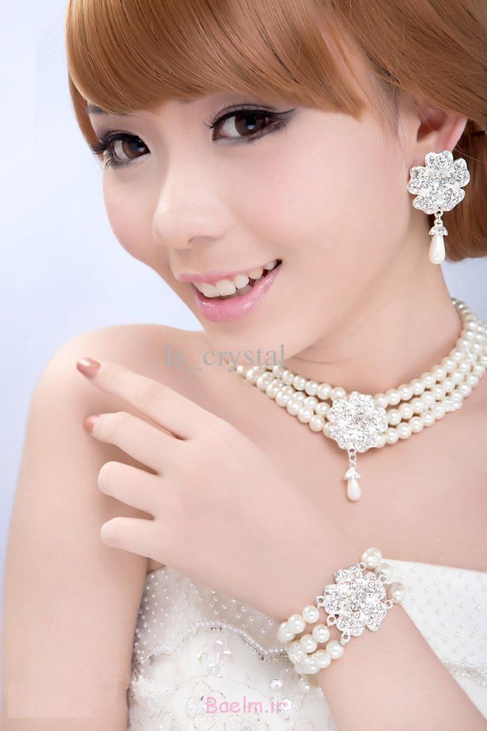 شگفت انگیز مروارید مجموعه جواهرات عروسی (6)