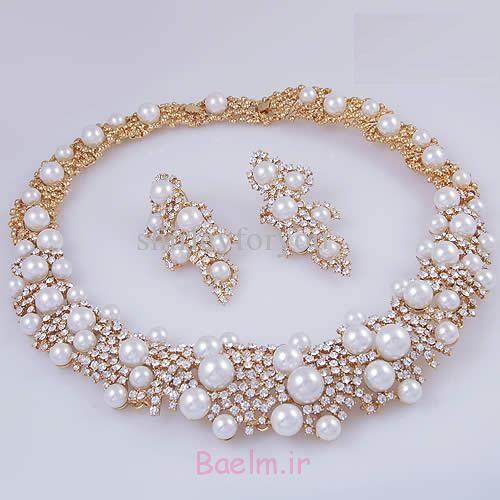 شگفت انگیز مروارید مجموعه جواهرات عروسی (8)