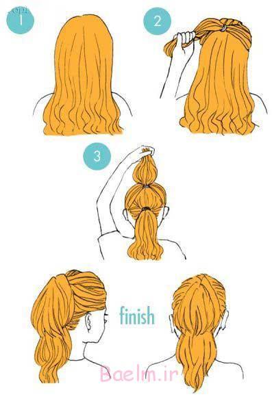 آموزش شینیون موهای کوتاه, آموزش شینیون مو, دانلود رایگان آموزش شینیون مو, دانلود