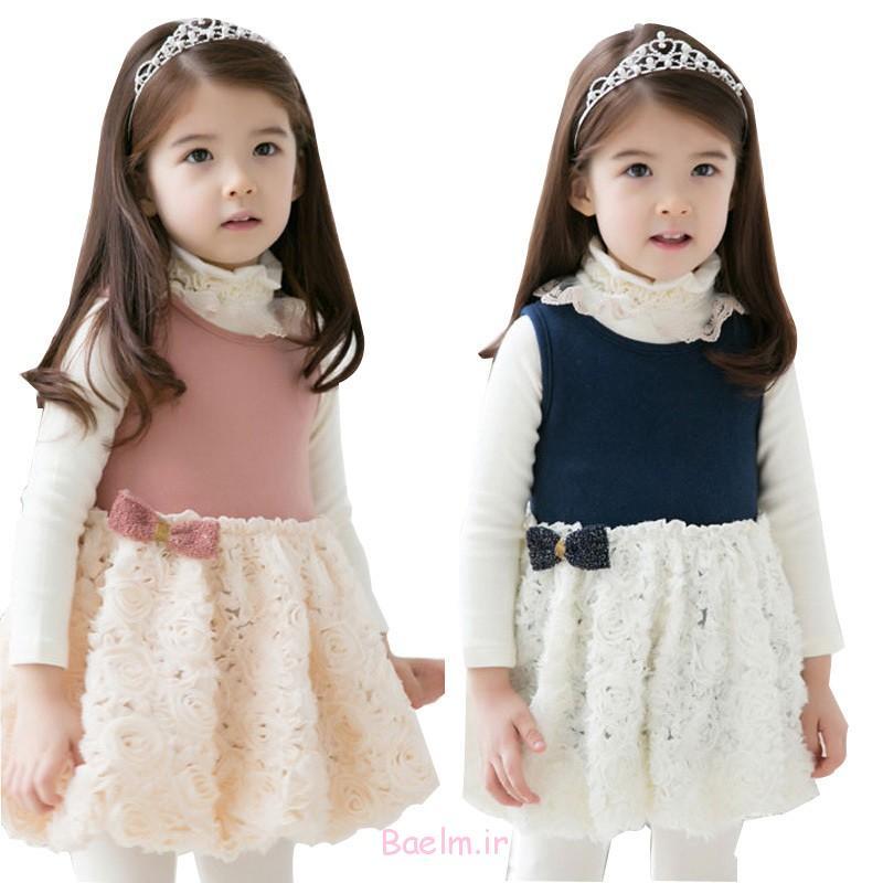 بهار زیبا لباس پوشیدن حزب برای دختران