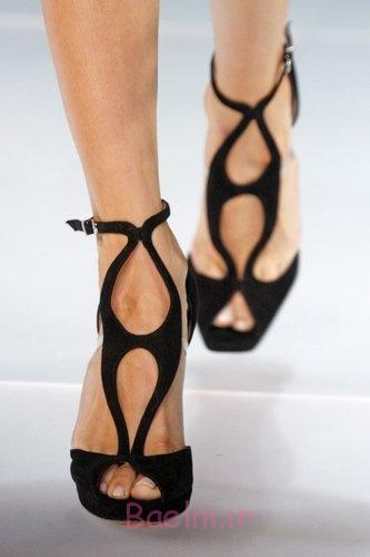 سیاه و سفید کفش قطع جریان جلو آرمانی