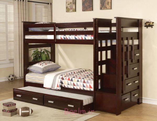 قیمت تخت دو طبقه چوبی