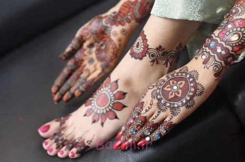 زیبا tikya طراحی mehndi برای خانمها (2)