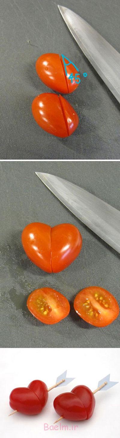 سفره آرایی همراه با تزیین گوجه،سفره آرایی ایرانی با گوجه,سفره آرایی و میوه آرایی همراه با گوجه