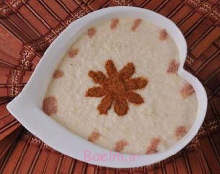 تزیین شیربرنج در سفره افطار,تزیینات سفره افطار