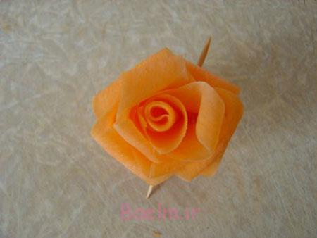 آموزش تزئین ترب و هویج به شکل گل رز, آموزش تزیین ترب