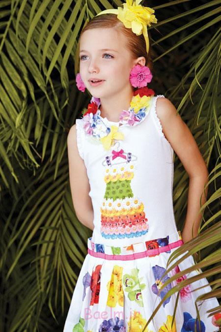پیراهن گلدار بهاری دخترانه Monnalisa,پیراهن گلدار دخترانه Monnalisa