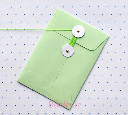 آموزش تصویری درست کردن پاکت نامه,طرز درست کردن پاکت نامه,آموزش درست کردن پاکت نامه
