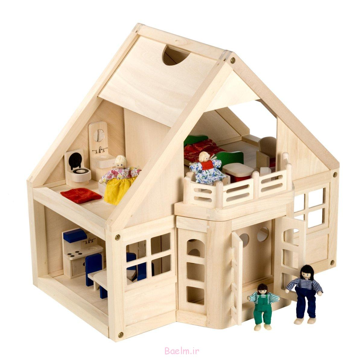 عکس هایی بسیار جالب از خانه های عروسکی چوبی (بسیار شیک و فانتزی)