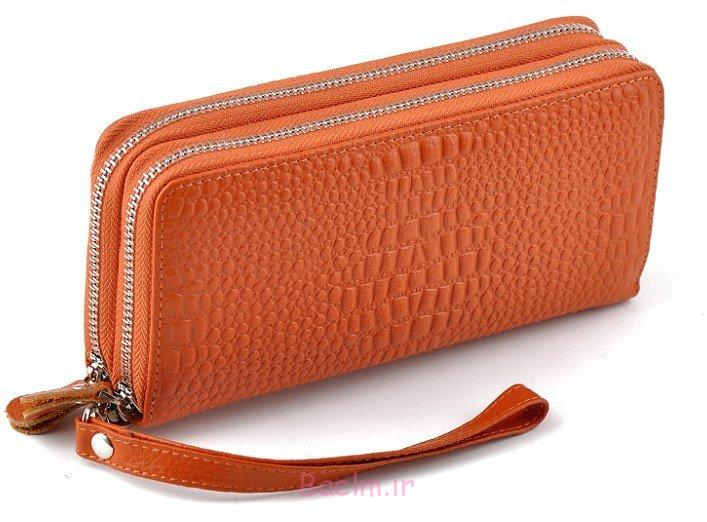 نارنجی کلاچ کیف پول