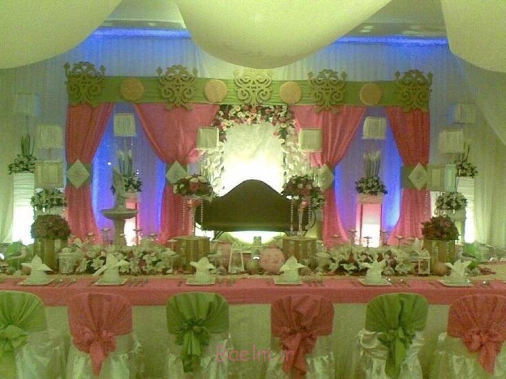تزیینات عروسی،شیک ترین مدل های تزیین و دیزاین جایگاه عروس و داماد