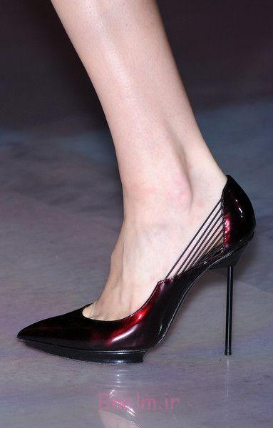 کفش پاشنه mehroon شیک