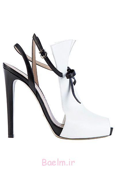 سبک توری سفید و سیاه و سفید کفش