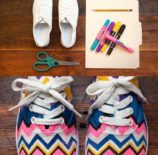 رنگارنگ تبادل نظر قبل کفش