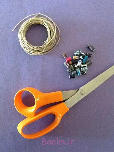 طناب بافی | بافت یه دستبند ساده که فقط با گره پایه بافته می شه