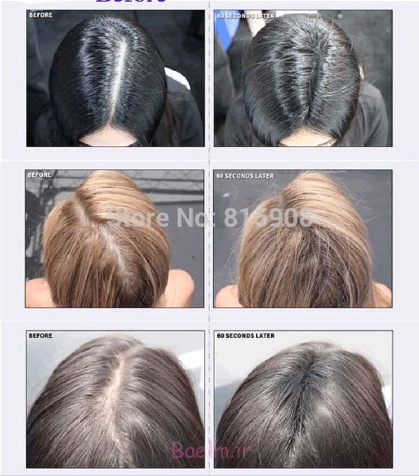پودر مو رنگی برای موهای کم پشت