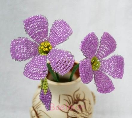 گل با منجوق | آموزش تصویری ساخت گل منجوقی
