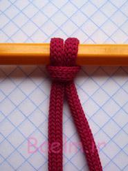 طناب بافی | آموزش تصویری گره پایه طناب بافی (مکرومه)