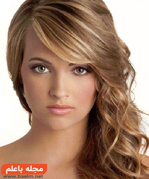 مدل مو دخترانه و زنانه برای پیشانی بلند,مدل مو برای صورت بیضی شکل