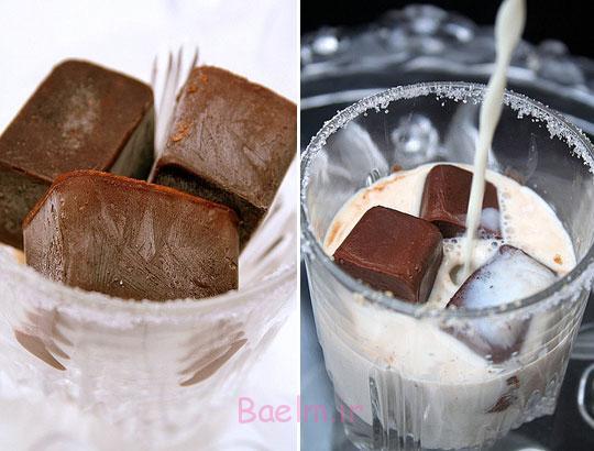 را مکعب شکلات که شما می توانید به شیر خود را قرار داده