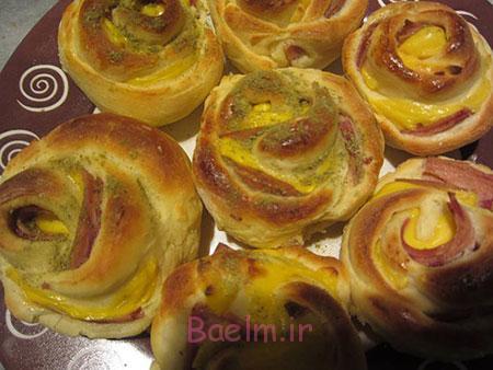 پخت رزت ژامبون,طرز درست کردن رزت ژامبون