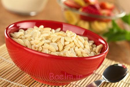 آموزش انواع تنقلات | مواد لازم و طرز تهیه برنجک بوداده خانگی (ساده و خوشمزه)