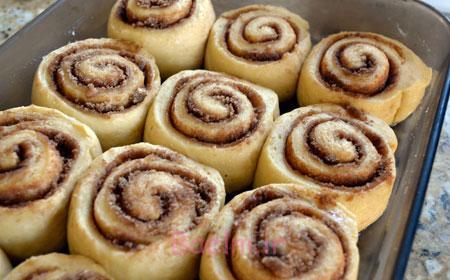 درست کردن شیرینی رول دارچینی, مواد لازم برای شیرینی رول دارچینی