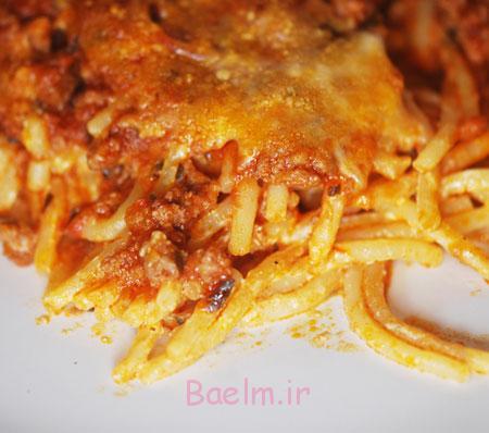 اسپاگتی پخته با پنیر,پخت اسپاگتی پخته با پنیر