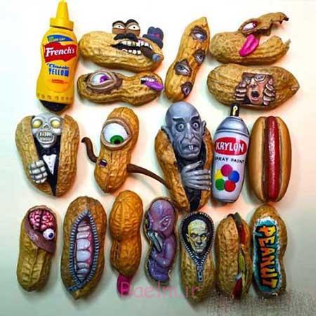 هنرنمایی های جالب با بادام زمینی