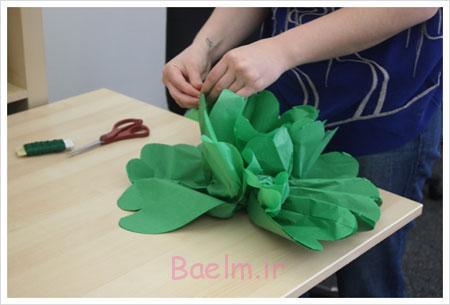 آموزش تصویری ساخت گل های کاغذی,ساخت گل های تزیینی