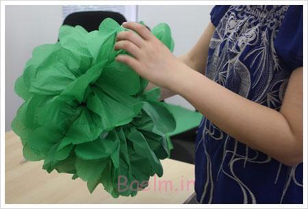 آموزش درست کردن گل های کاغذی,گل های کاغذی تزیینی