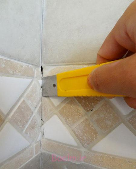 آموزش تصویری تعمیرات منزل, مراحل ترمیم درزهای کاشی