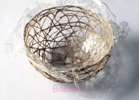هنر در خانه | درست کردن کاسه با نخ های کنفی