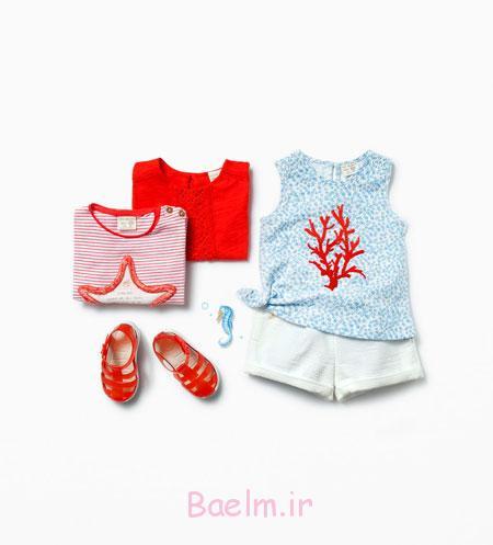 لباس دخترانه برند زارا,ست لباس دخترانه زارا 2015