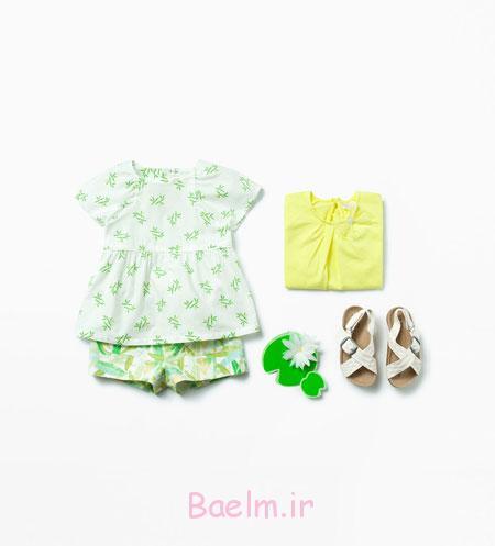 لباس نوزادی دخترانه, ست لباس دخترانه 2015