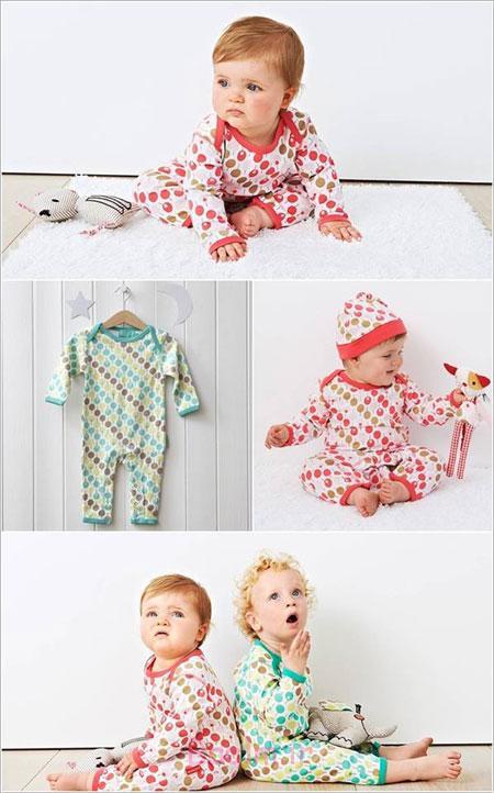 مدل لباس خواب نوزادی, لباس خواب نوزادی سرهمی