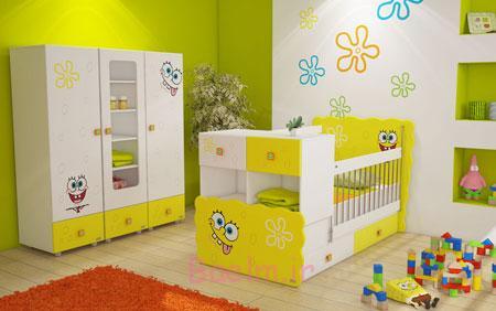 شیک ترین تخت های چند منظوره, دکوراسیون سرویس خواب نوزادی