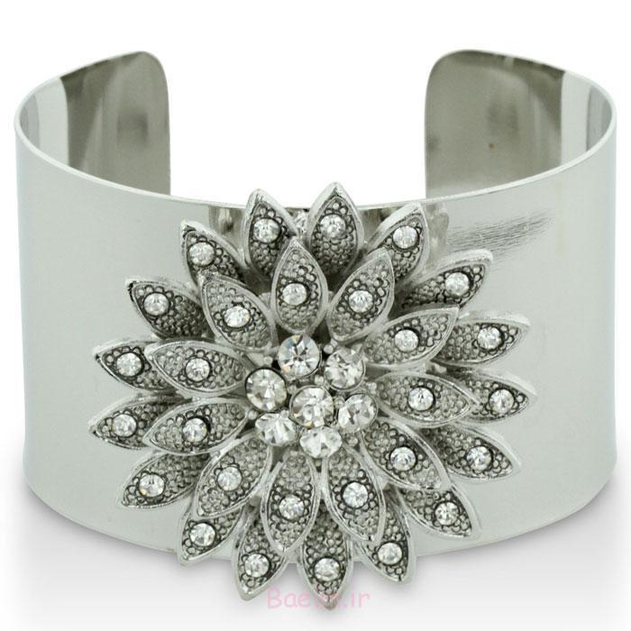 1 سنگ مصنوعی بیرنگ و دکمه سر دست برای زنان دستبند 2014