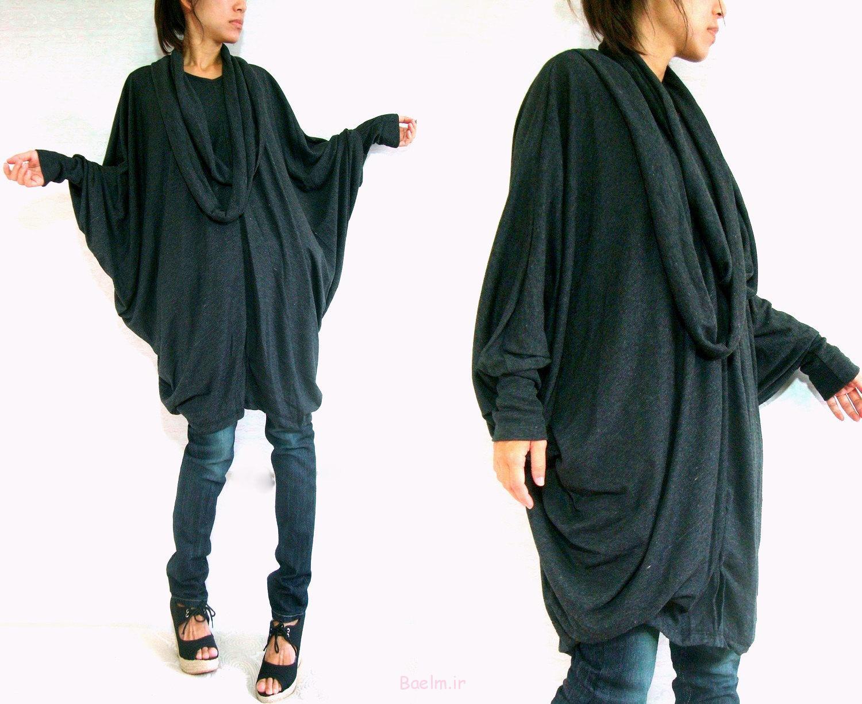 1 black color women wear 2014 oversized blouse