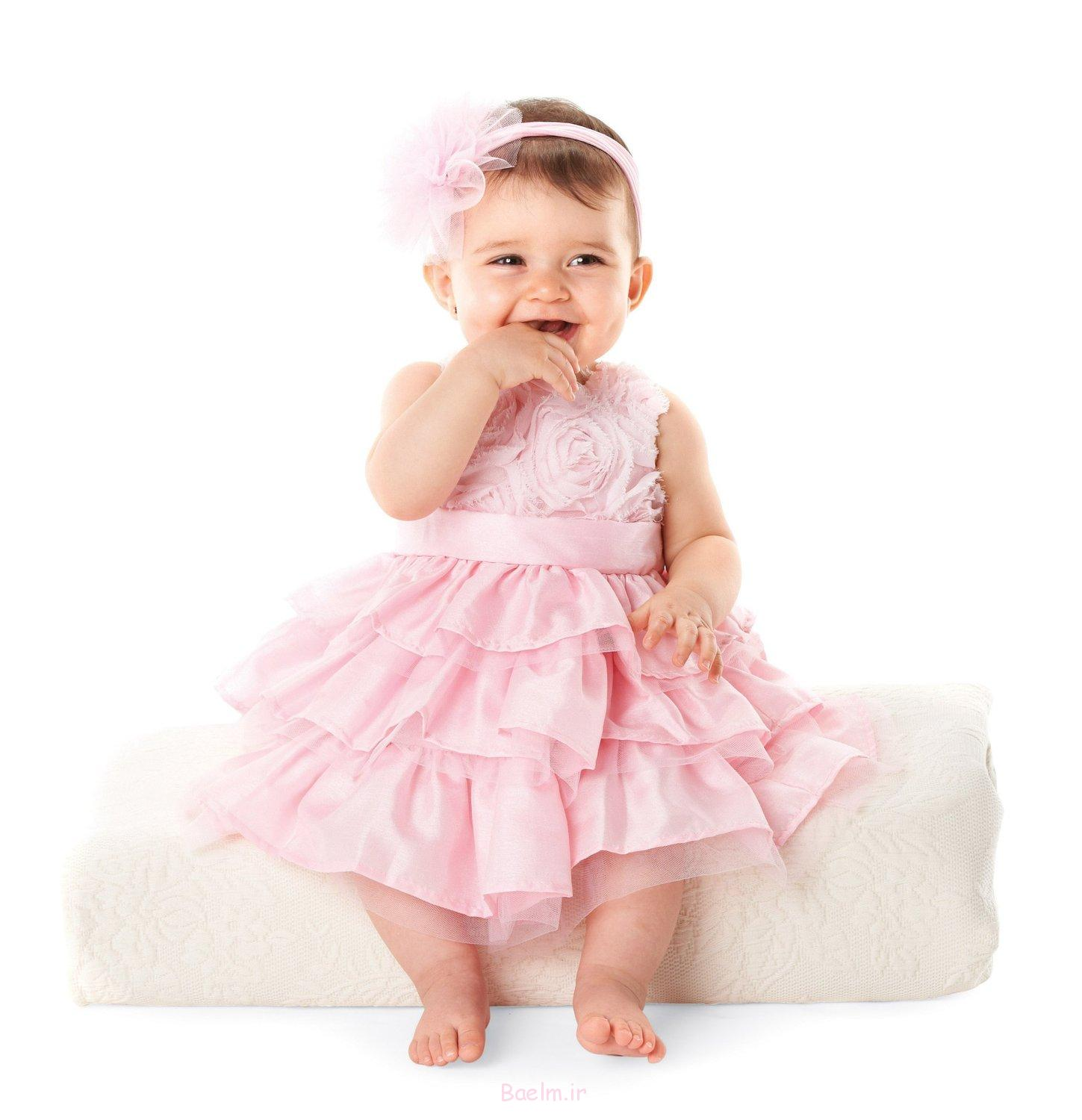 2 pink flower frock infant shoulder strap