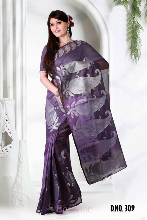 2 purple amazing stylish saree for women