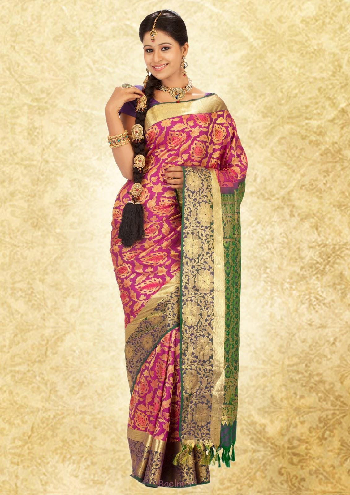 3 fancy silk saree for women