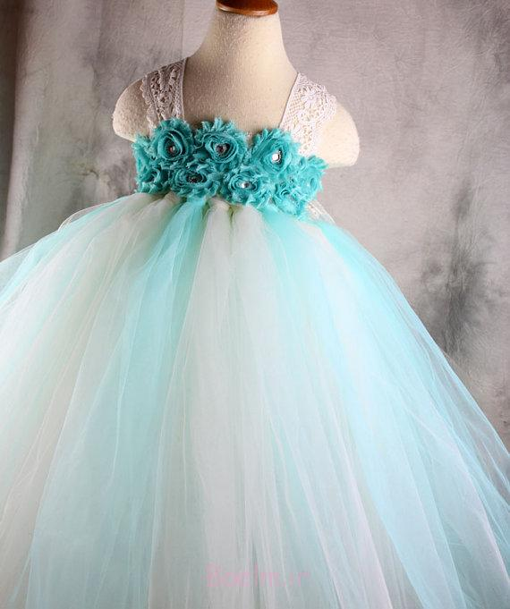 3 with with lace shoulder strap flower girl dress