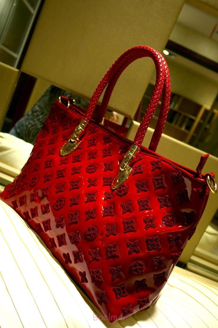 مجموعه 4 کیف های دستی قرمز بسیار جذاب برای دختران (7)