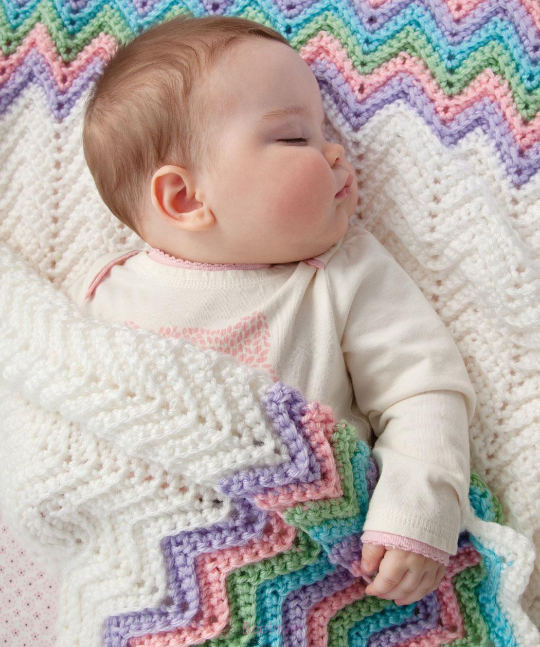 4 قلاب دوزی الگوهای پتو نوزاد با تصاویر (17)