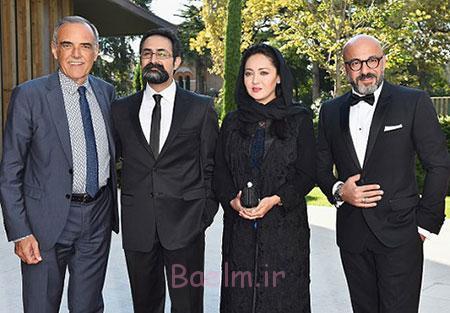 عکس امیر آقایی، نیکی کریمی، وحید جلیلوند و ابرتو باربرا در فرش قرمز ونیز